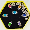 Shimon Rings (Set) Da Katekyo Hitman Reborn