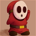 Shy Guy Cosplay Da Mario Kart