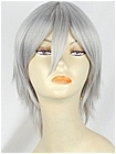 Silver Grey Short Wavy Costume Wig (Andrew)