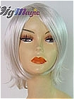 Silver White Short Wavy Costume Wig (William)