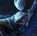 Silverfang Akali Wig from League of Legends