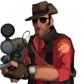Sniper Cosplay von Team Fortress 2