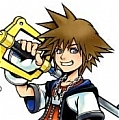 Sora Wig De  Kingdom Hearts