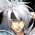 Souji Wig (Silver Grey) from Hakuouki