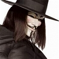 V Cosplay from V for Vendetta