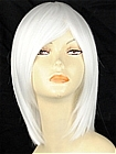 White Short Straight Costume Wig (Nicole)