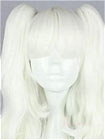 White Wig (Medium,Wavy,Clips on)