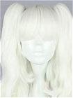 White Wig (Medium,Wavy,Clips on)