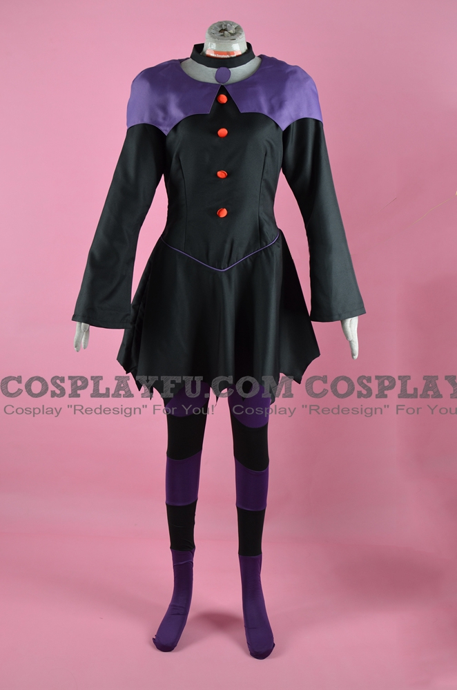 Jinx Cosplay Costume from Teen Titans