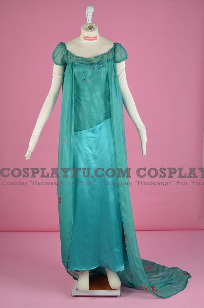 Elsa Cosplay Costume from Frozen Fever