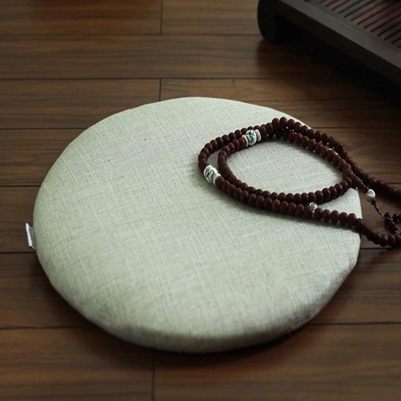 Handmade Buckwheat Hull Zafu Buddha Meditation Cushion
