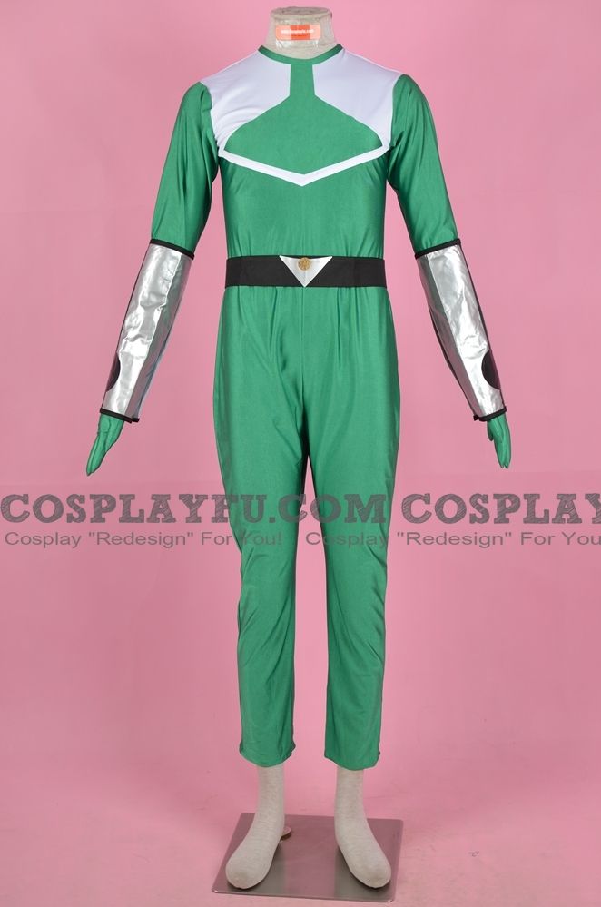 Green Time Force Ranger Cosplay Costume from Power Rangers Time Force