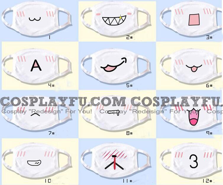 Kawaii Emoji Mascara Cosplay