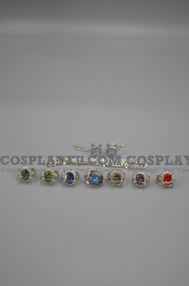 Vongola Rings De  Katekyo Hitman Reborn Cosplay (2nd, Set)