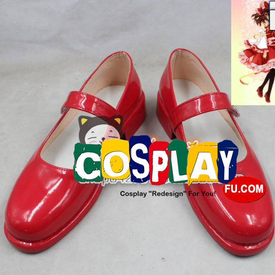 Reimu Hakurei Shoes from Touhou Project (3378)