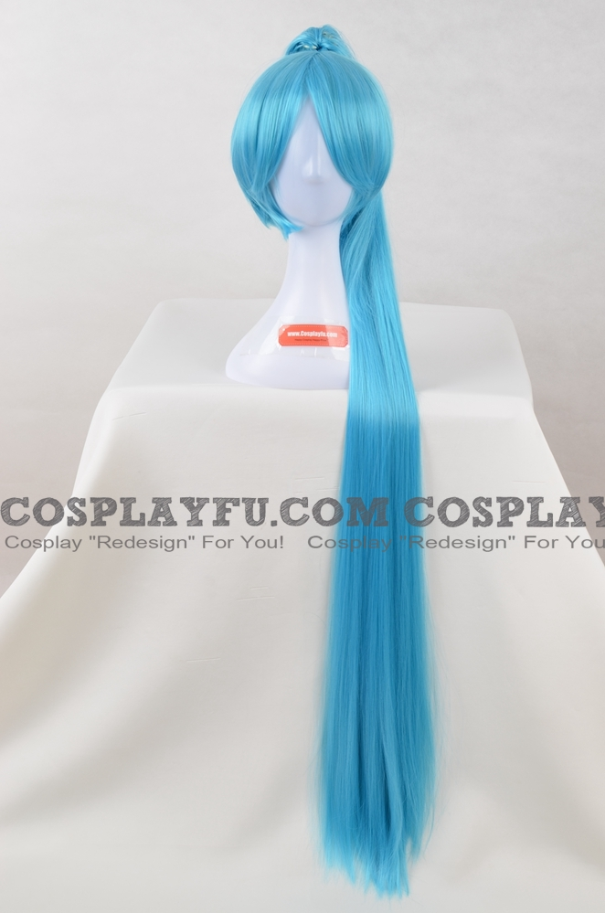 Blue Wig (Long,Wavy,Kneesocks)