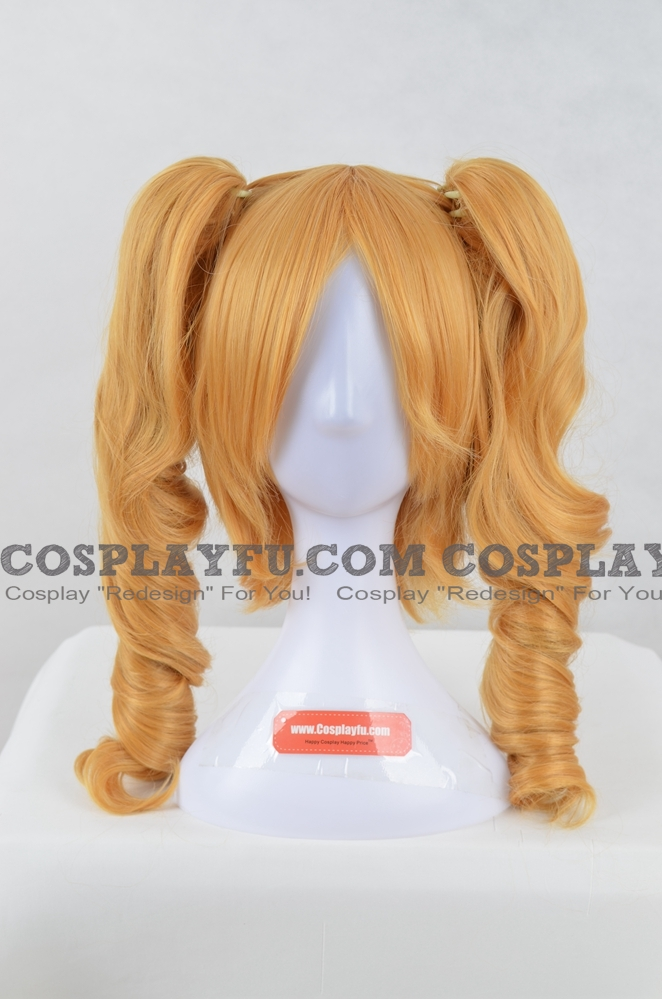 Longue Curly Twin Pony Tails Blond Perruque (2894)