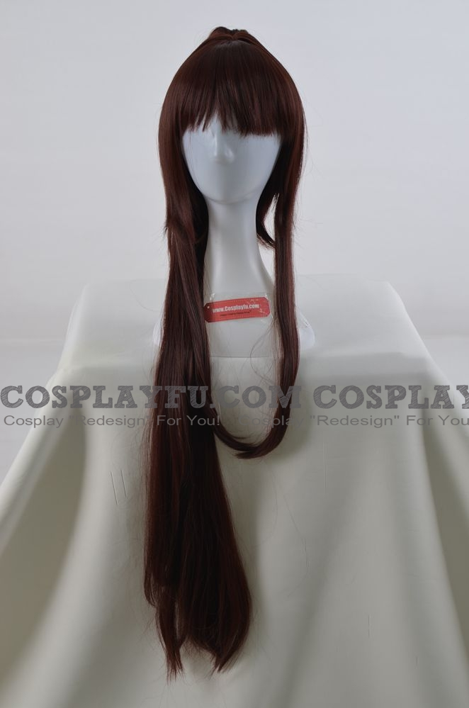 Long Straight Pony Tail Brown Wig (3384)