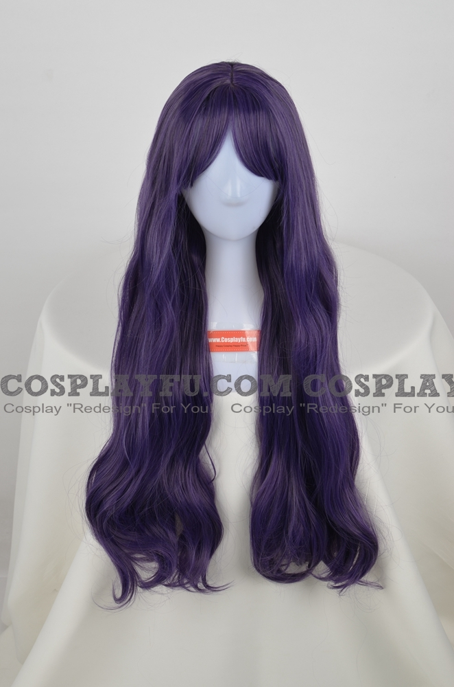 Long Curly Purple Wig (4070)