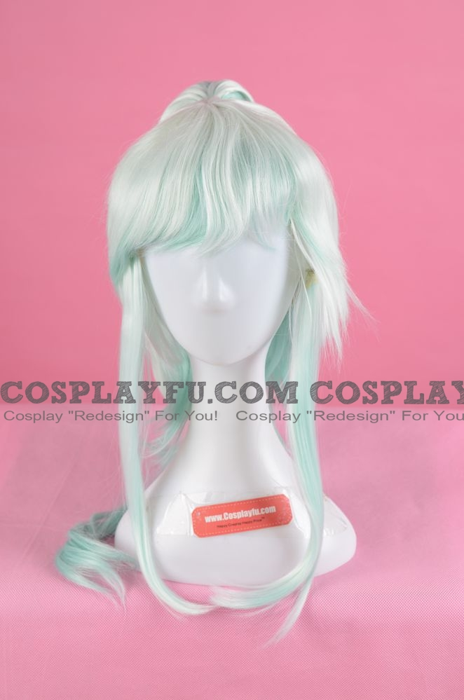 Long Pony Tail Light Blue Wig (3548)
