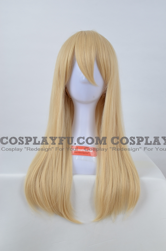 50 cm Medium Straight Blonde Wig (2598)