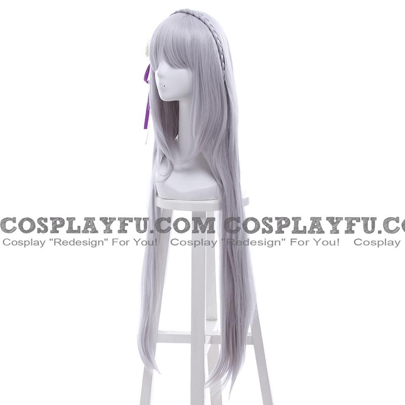 Emilia perruque De Re:Zero