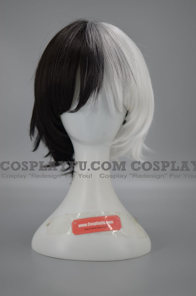 35 cm Short Mixed White and Black Wig (5827)