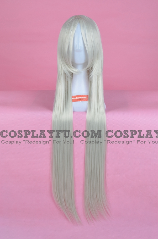 Long Straight White Wig (6903)