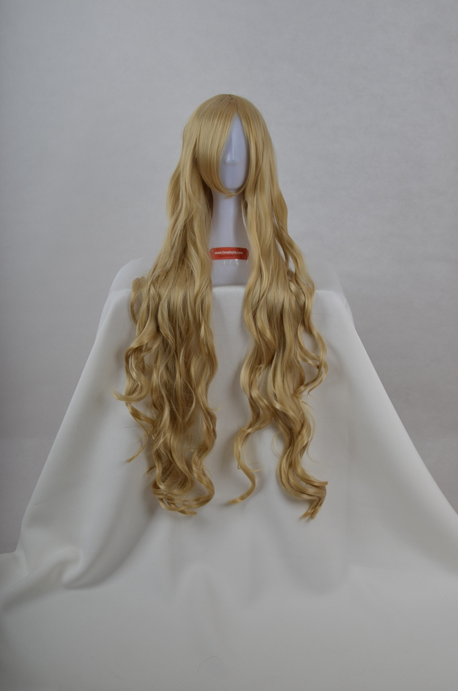 Long Curly Blonde Wig (7544)