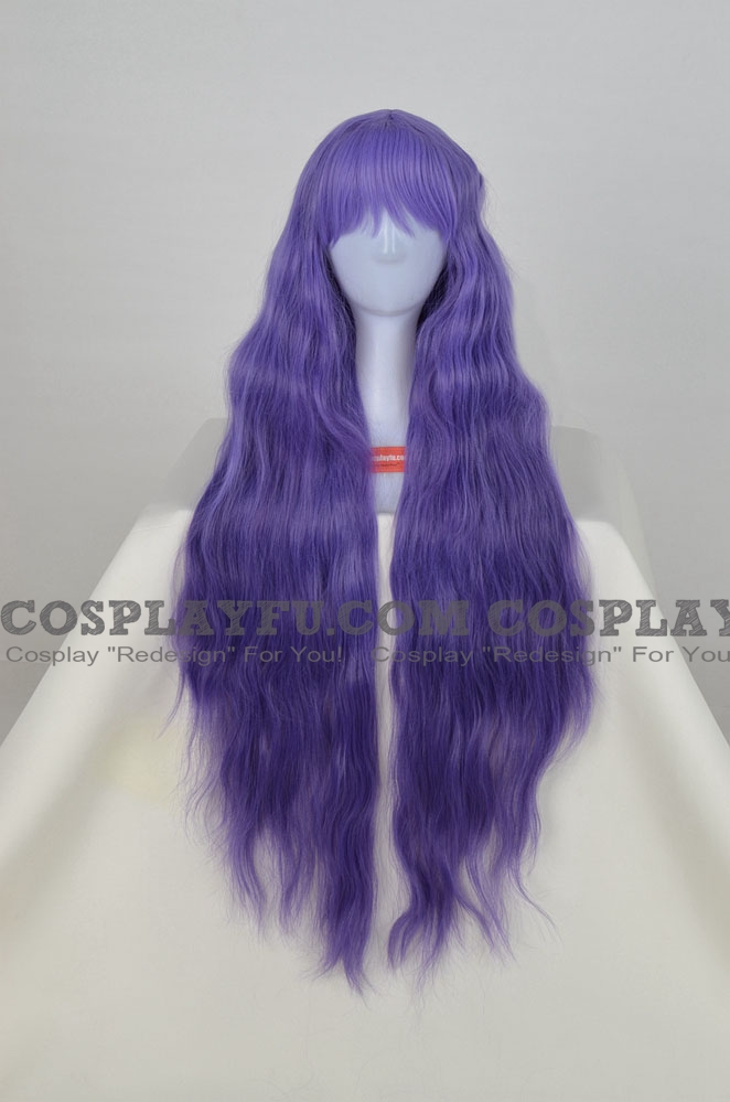 Long Wavy Purple Wig (7317)