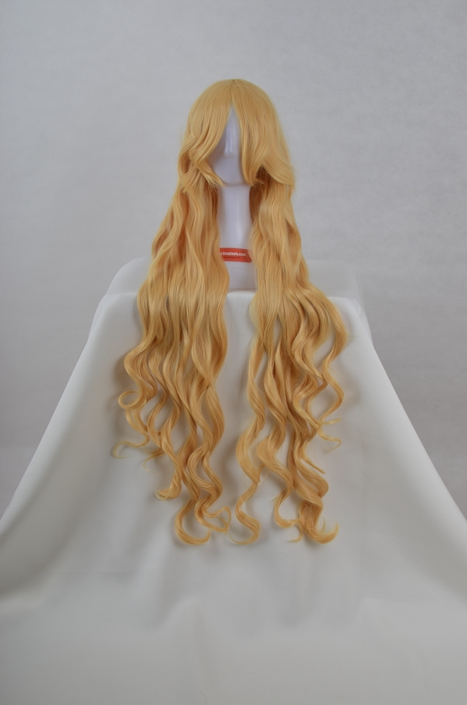 Long Curly Blonde Wig (7548)