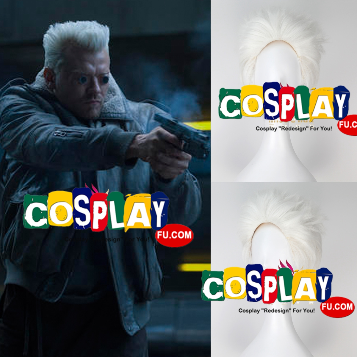 Batou wig from Ghost in the Shell
