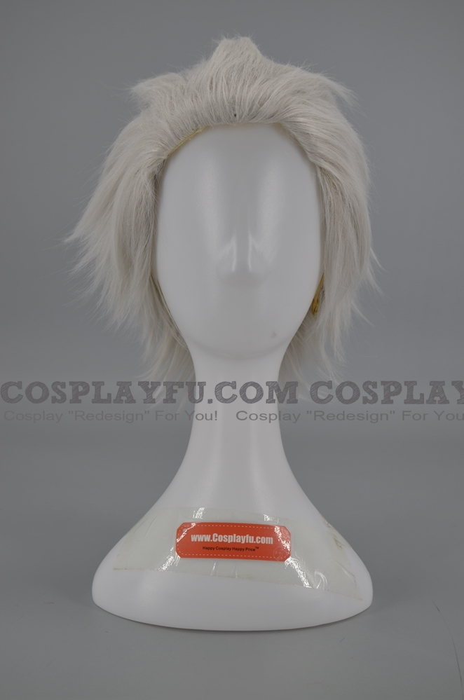 Short Straight Silver Grey Wig (7043)
