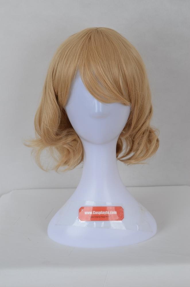 Medium Curly Blonde Wig (5907)