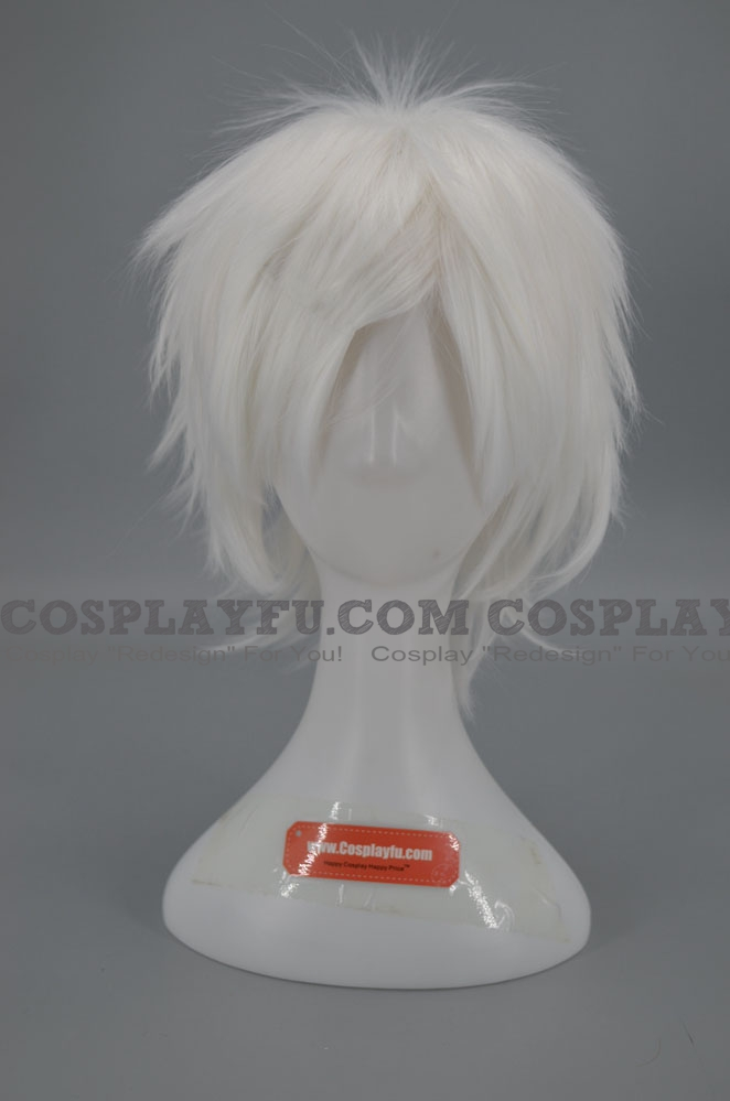 Short Straight White Wig (8422)