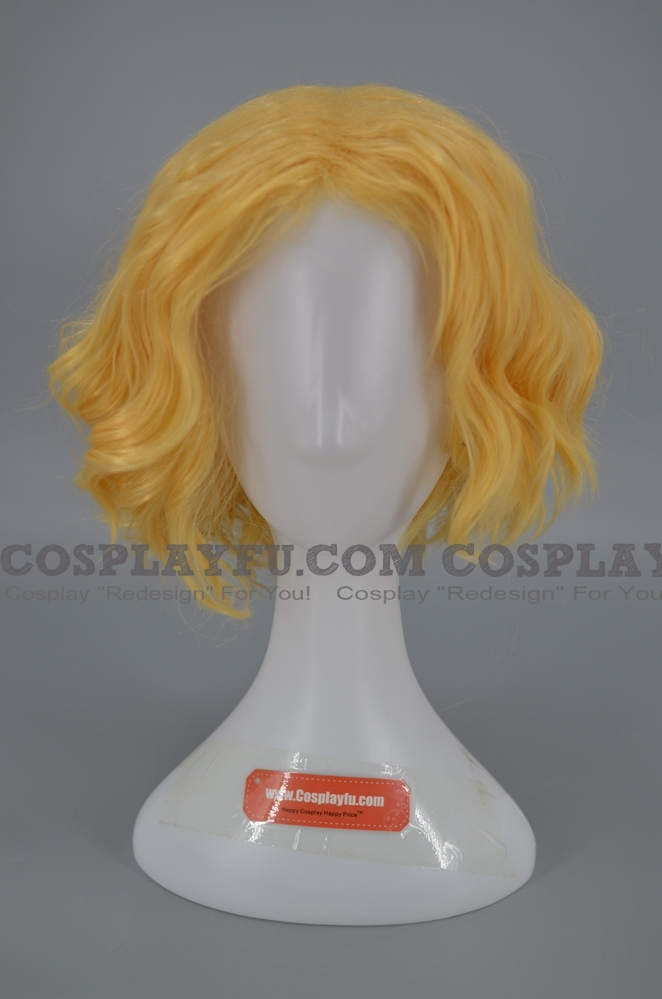 30 cm Court Curly Blond Perruque (8223)