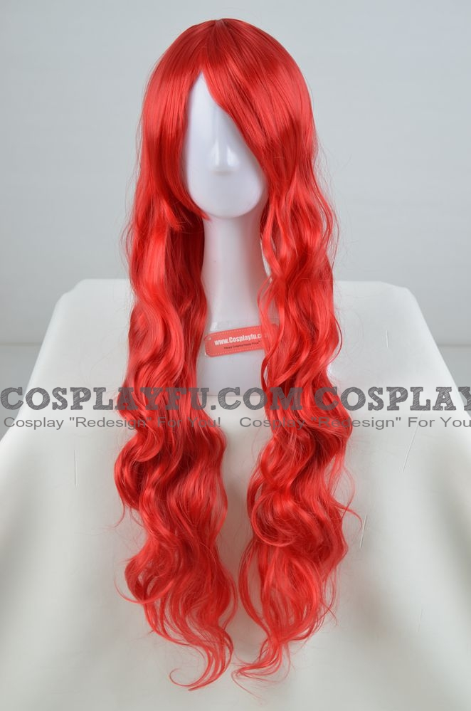 80 cm Long Curly Red Wig (8787)
