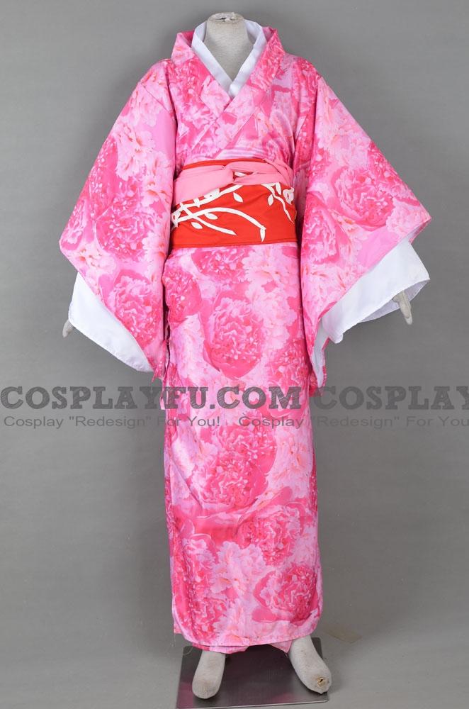 Japanese ロング 着物 コスプレ コスチューム