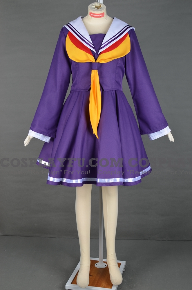 Shiro Cosplay Costume from No Game No Life (5103)