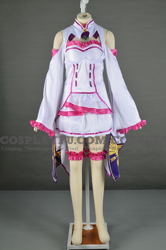 Emilia Cosplay Costume from Re:Zero