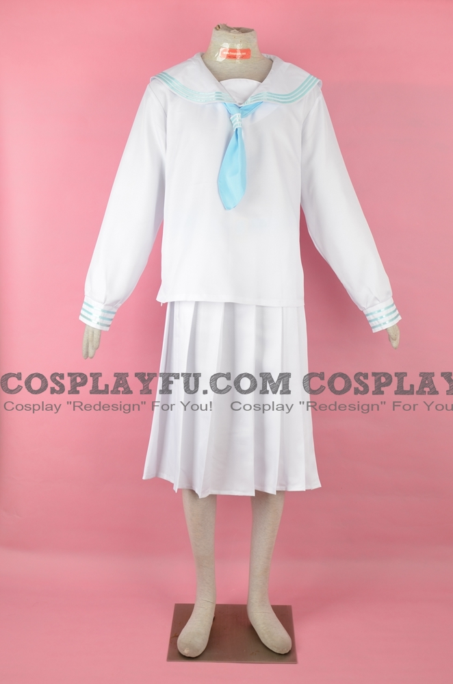 Miho Cosplay Costume (Blue) from Sailor Fuku Hangyaku Doumei