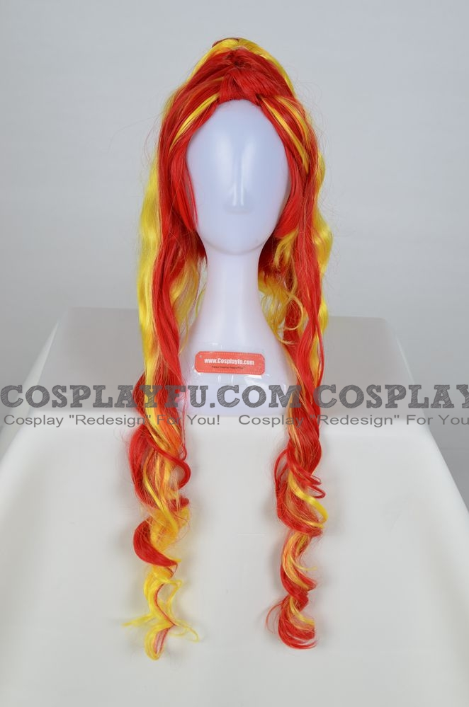 Sunset Shimmer Cosplay Costume Wig from My Little Pony