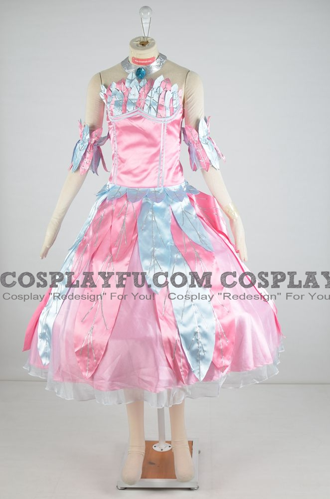 Odette Cosplay Costume (Blue and Pink Dress) from Barbie