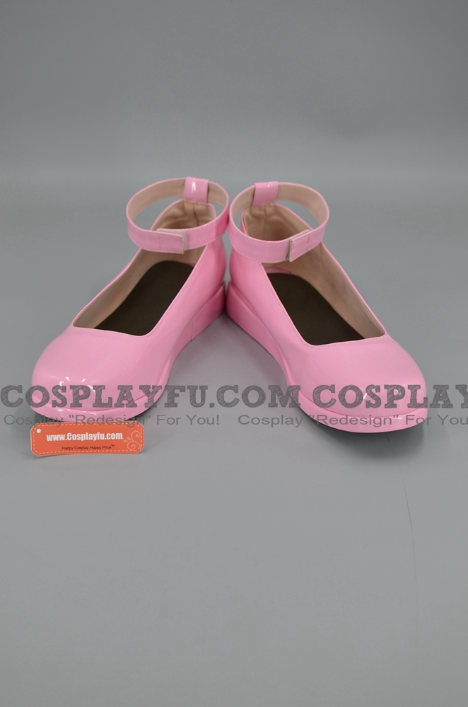 D Gray Man Lenalee chaussures (Rose)
