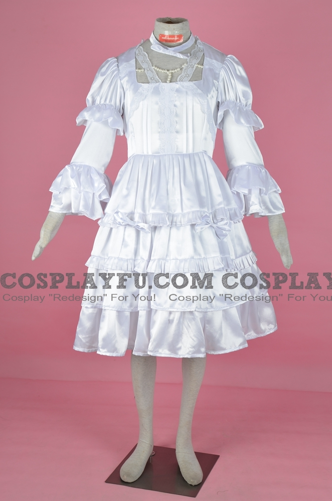 Lolita White Satin Dress