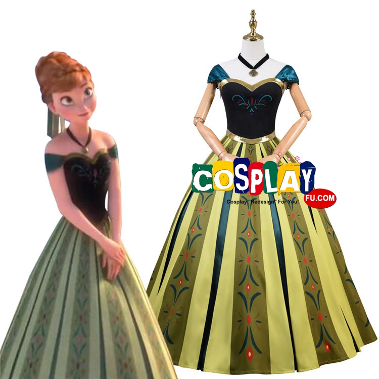 Anna Cosplay Costume (2nd) from Frozen
