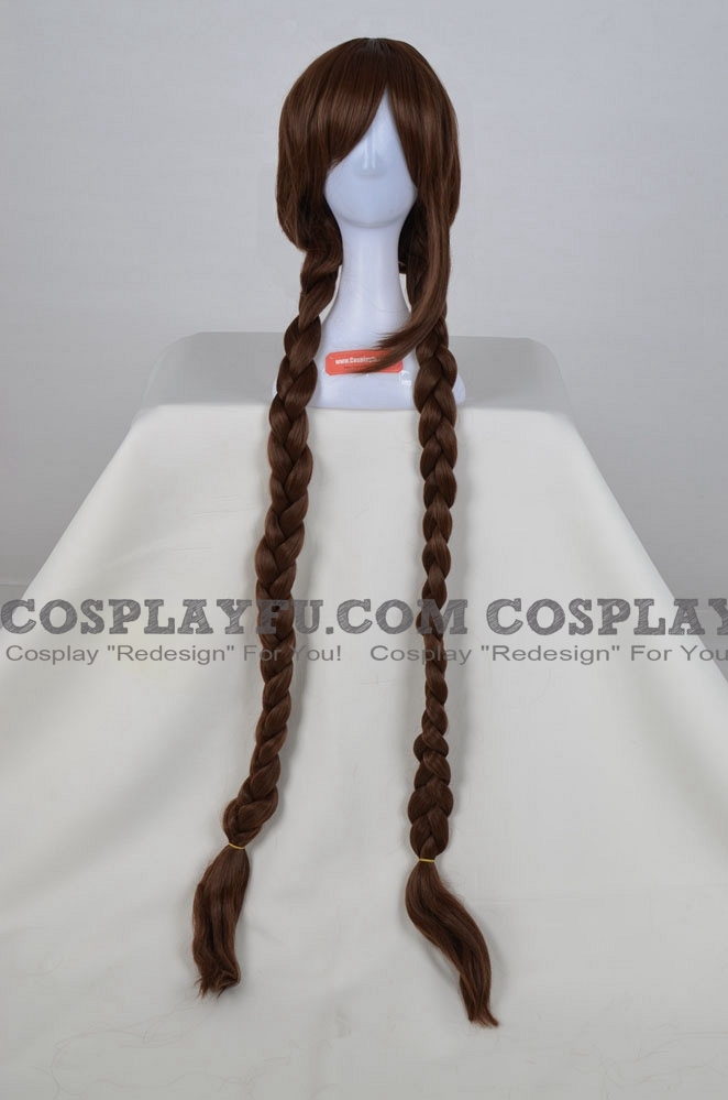 130 cm Long Brown Twin Braids Wig