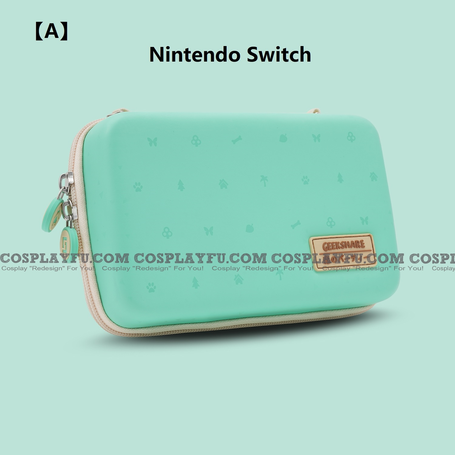 Green Animal Crossing Party Nintendo Switch and Switch Lite Carrying Case - 8~12 Game Cards Holding