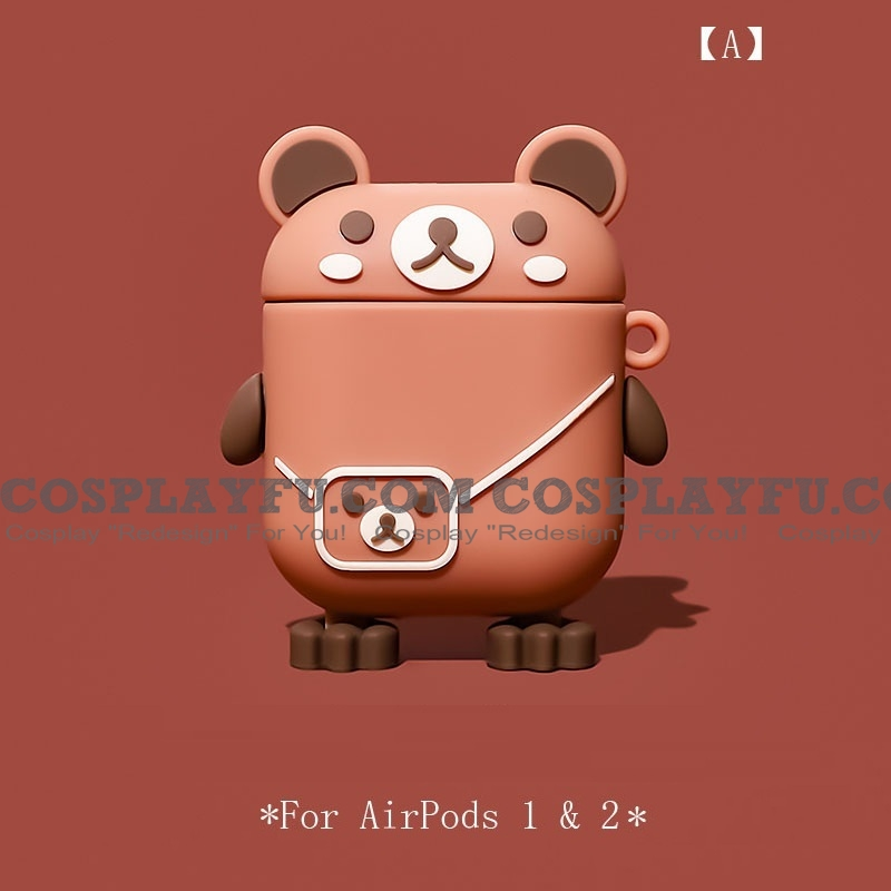 Lovely Bear with Bag | Silicone Case for Apple AirPods 1, 2, Pro