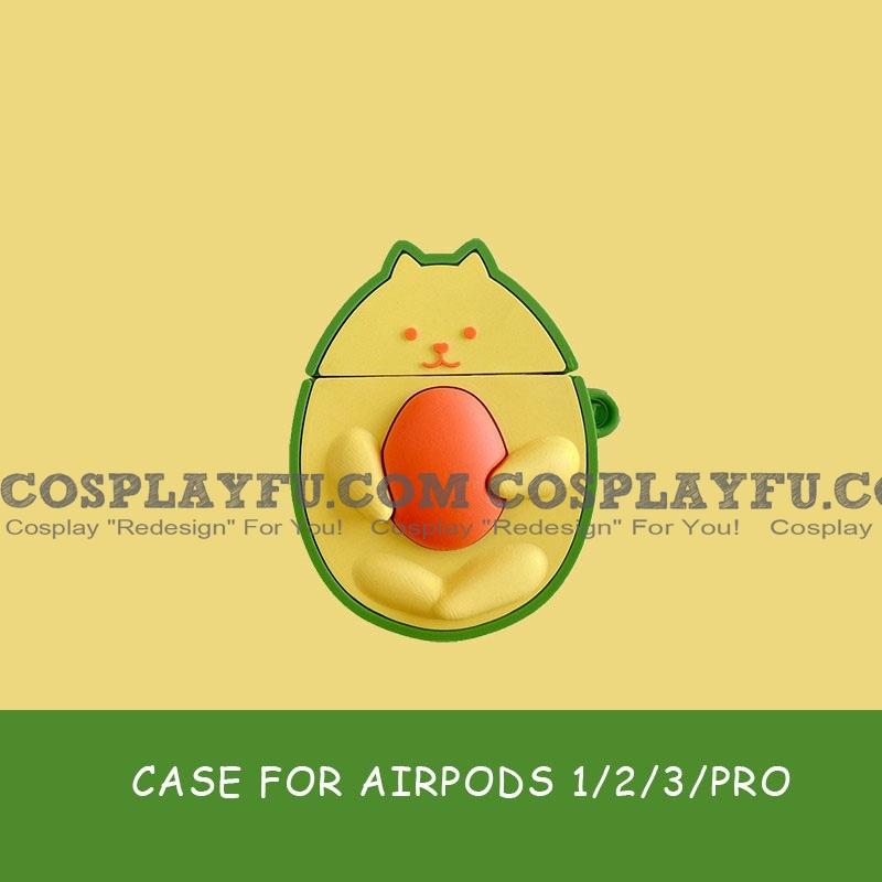 Cute Avocado Cat | Airpod Case | Silicone Case for Apple AirPods 1, 2, Pro